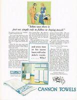 1920s BIG Vintage Cannon Mills Towels Retro Bathroom Decor Art Print Ad