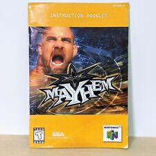 WCW Mayhem Turbo Nintendo 64 N64 Instruction Booklet Manual