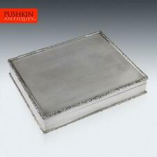 ELEGANT 20thC SOLID SILVER CIGAR BOX, RICHARD COMYNS c.1960