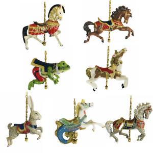 Carousel Animal Kurt Adler Horse Frog Hippocampus Hare Ornament Saddle Figurine