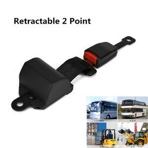 Car Truck Lap Safety Seatbelt Buckle Kit Universal Retractable 2 Point Seat Belt