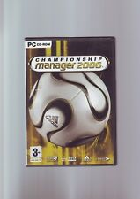CHAMPIONSHIP MANAGER 2006 - CM06 FOOTBALL PC GAME - ORIGINAL & COMPLETE - VGC