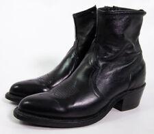 Sage USA Vintage Black Leather Zip Up Beetle Cowboy Boots 7 B