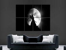 SAMURAI WARRIOR FULL MOON  FANTASY  ART WALL LARGE IMAGE GIANT POSTER HUGE !!!