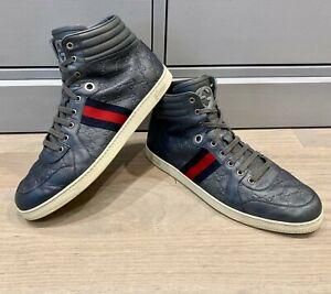 Gucci Men's Guccissima GG Supreme High Top Sneakers Sz 12 G =  US 13 *Authentic*