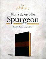 RVR 1960 BIBLIA DE ESTUDIO SPURGEON, MARRON SIMIL PIEL DUO TONE