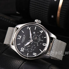 44mm Parnis Miyota Automatic Movement Watch 24-hour Dial 316L Stainless Bracelet
