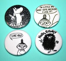 Set Of Moomin Troll Little My Stinky comic Button Pin Bagdes