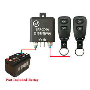 Battery Disconnect Switch 12V Car Positive Negative And Universal Installation