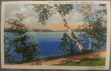 TEN (10) Vintage Linen Postcards Lake Bomoseen in the Green Mtns. Vermont