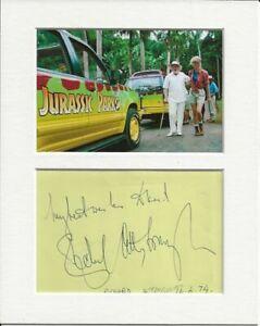 Richard Attenborough jurassic park signed genuine authentic autograph signature