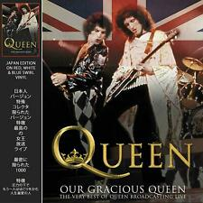 QUEEN OUR GRACIOUS QUEEN JAPAN EDITION ON RED,WHITE & BLUE SWIRL VINYL LP