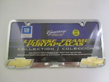 GM OEM Chrome License Plate Frame with Gold Tone GM Logo - New - Sealed