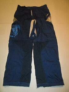 THOR Static Dirt Bike Motocross Riding Pants Mens 38 Zip Off Over The Boot Blue