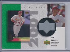 JIM EDMONDS 2002 UD Authentics Reverse Negative Jersey #JE  (C9252)