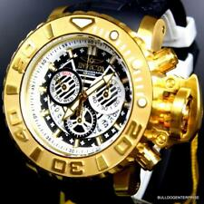 Invicta Sea Hunter III Black Gold Plated 70mm Full Sized Chronograph Watch New