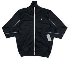 Men's G-STAR RAW / G RAW Black Zippered Track Jacket Warmup Medium M NWT NEW