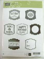 """NEW~Single Stamp~unmounted~Tag /""""BASIC LABEL /"""" Stampin/'UP 3 3//4 x 1 1//2/"""""""
