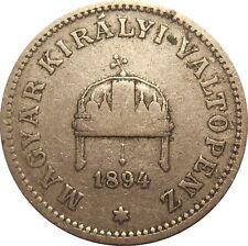Hungary 20 Filler 1894 KB KM#483 Franz Joseph I (H-15)