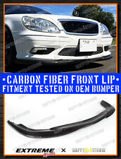 03-06 CARBON FIBER MERCEDES BENZ W220 FACELIFTED AMG PACKAGE GH STYLE FRONT LIP