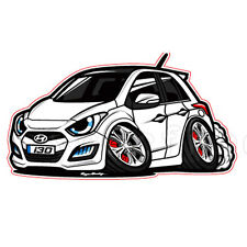 Character Sticker 6p 1set Creamy White For 12 13 Hyundai Elantra GT : New i30