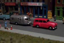 RED Station Wagon and Camper N Scale vehicle