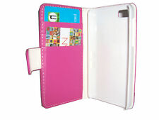 PINK FLIP  LEATHER WALLET CASE WITH CARD HOLDER COVER FOR BLACKBERRY Z10 BB10