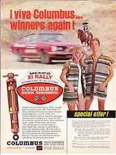 1968 PLYMOUTH BARRACUDA @ 24-HOUR MEXICAN RALLY ~ ORIGINAL COLUMBUS SHOCK AD
