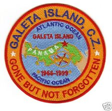 US NAVY BASE PATCH, GALETA ISLAND CANAL ZONE PANAMA, GONE BUT NOT FORGOTTEN   Y