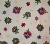 Imperial Paisley BTY Ivy Lane Quilting Treasures Tossed Flower Floral White