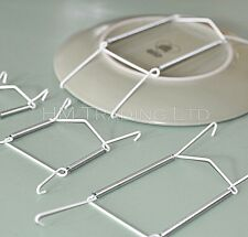 No 3 White Wire Plate Hanger Stand 19 25 Cm 7 5 10 Leeds Display PW 30 WL