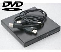 EXTERN USB 8x DVD 24x CD-ROM LAUFWERK COMPATIBLE MIT WINDOWS 98 XP WIN7 8 10 LW2