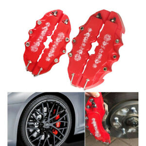 4PC High Quality ABS Red 3D Car Universal Disc Brake Caliper Covers Brakes Cover