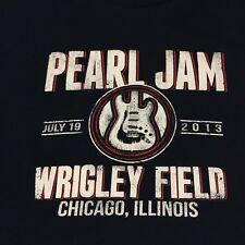 Pearl Jam Navy Blue T-shirt Wrigley Field Chicago 2013 Rock Band Vedder McCready