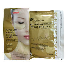 Purederm Gold Hydro Collagen Mask 1 Pack (25 Sheet) + Gold Eye & Neck Mask x1P