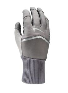 Nike Shield Women's Touch Screen Compatible Gray Running Gloves Size S