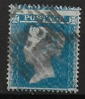 SG20/20a. 2d.Pale Blue.Wmk SCp16.(Plate4/5). MIS-PERFED.Good/Fine Used. Ref.0832