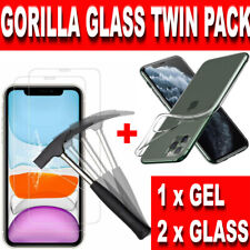Screen Protector CLEAR Case for New iPhone XR XS Max 11 X Gorilla Tempered Glass