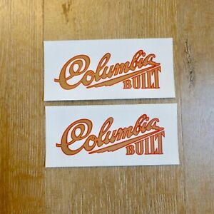 """Waterslide tank decal Columbia Built for vintage 5 Star Superb bicycle 4.5"""" long"""