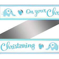 Davies M204 Creative Party on Your Christening Baby Elephant Boy Foil Banner