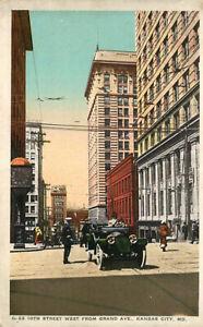 Fred Harvey Postcard 10th Street Scene, Kansas City, Missouri G-22