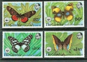 Gambia 1980, Abuko Nature Reserve (3rd Series) Butterflies sg431/4 MNH