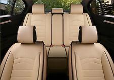 Komplettsatz Kunstleder Sitzbezüge Beige Schonbezüge Komfort Auto Set