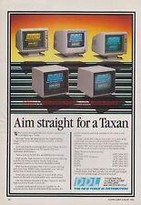 "DDL ""Aim Straight For Taxan"" 1985 Vintage Magazine Advert #7700"