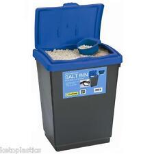 47 Litre GRIT ROCK SALT BIN DUSTBIN  De-Ice 47L Storage Container MADE IN UK