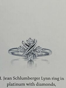 Tiffany & Co Schlumberger Lynn Ring In Platinum And Diamonds, US 6.5 , $5650