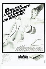 Publicité Advertising  108  1981   lit sans ressorts  Lattoflex