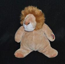 Peluche doudou lion beige CMP sonore bruit de bébé yeux fermés 22 cm TTBE