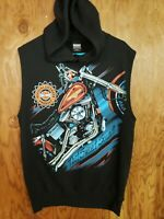 Vtg 80s Harley Davidson That Sweet Sound Motorcycle Hoodie Sleeveless USA Large