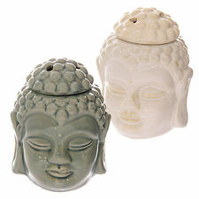 Crackle Glaze Thai Buddha Head Ceramic Oil Burner